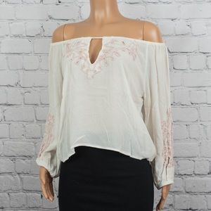 Forever 21 embroidered off-the-shoulders top